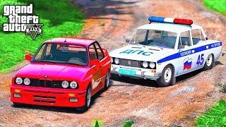 ПОГОНЯ В GTA 5 - BMW M3 E30 УЕЗЖАЕТ ОТ КОПОВ! ЕДУ С ОДНИМ КОЛЕСОМ! ⚡ГАРВИН