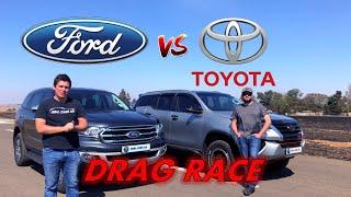 Everest VS Fortuner - DRAG RACE