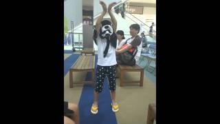 イオン南風原のライブ後、ちいやま商店くんが踊ってくれました♡ くまモ...