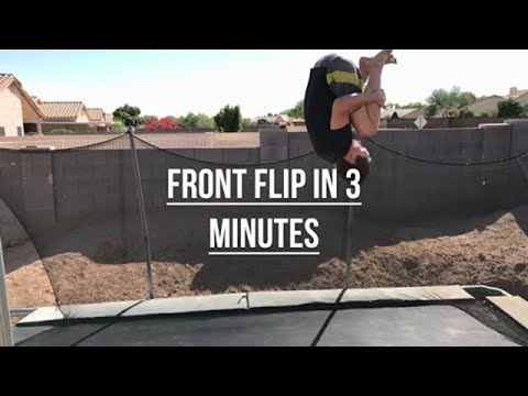 9edd760b959e How To Do A Frontflip On A Trampoline Easy - YouTube