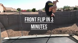 Video HOW TO DO A FRONTFLIP ON A TRAMPOLINE EASY download MP3, 3GP, MP4, WEBM, AVI, FLV September 2018