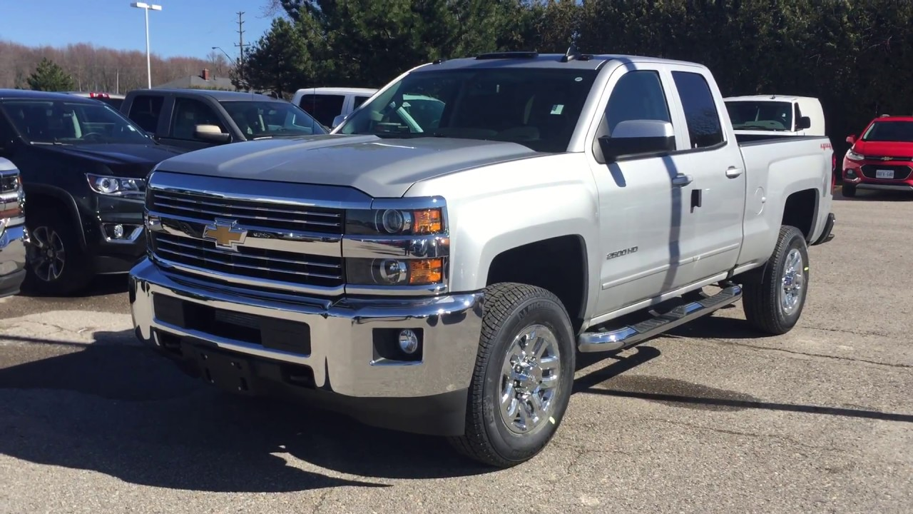 2017 Chevrolet Silverado 2500hd Double Cab Lt Silver Ice Metallic Roy Nichols Motors Courtice On