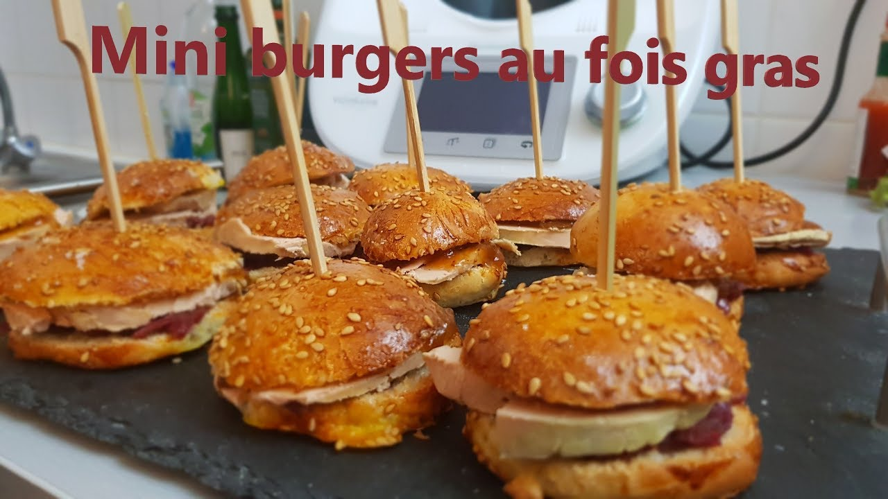 Amuse Bouche Noel Thermomix Mini Burger Au Foie Gras Au Thermomix