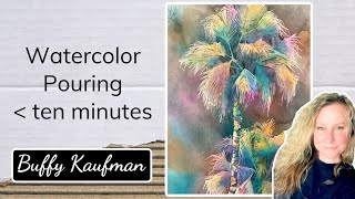 Watercolor Pouring in under ten minutes with Expressive Color