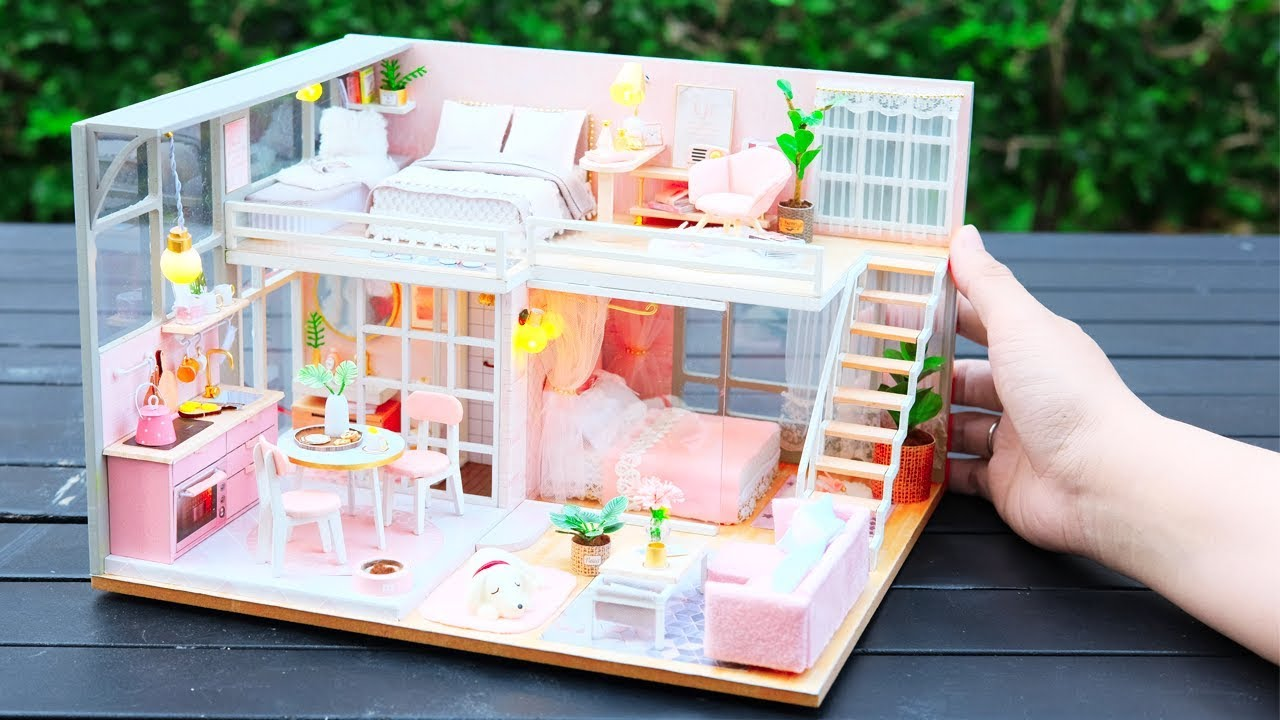 Diy Miniature Dollhouse Kit The Girlish Dream With Two