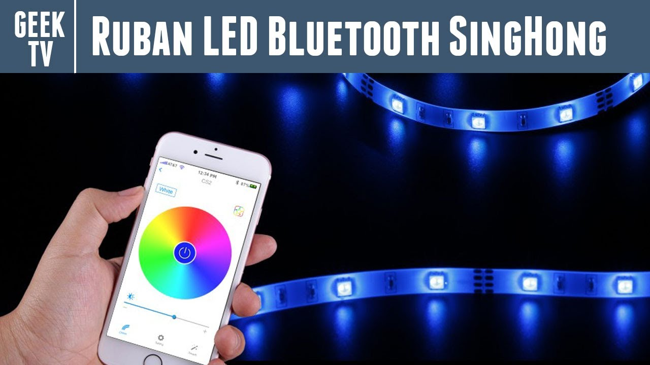 test du ruban led bluetooth singhong connect pilotable via smartphone youtube. Black Bedroom Furniture Sets. Home Design Ideas