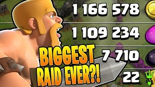 ONE OF THE BIGGEST RAIDS IN CLASH OF CLANS HISTORY! - Clash of Clans