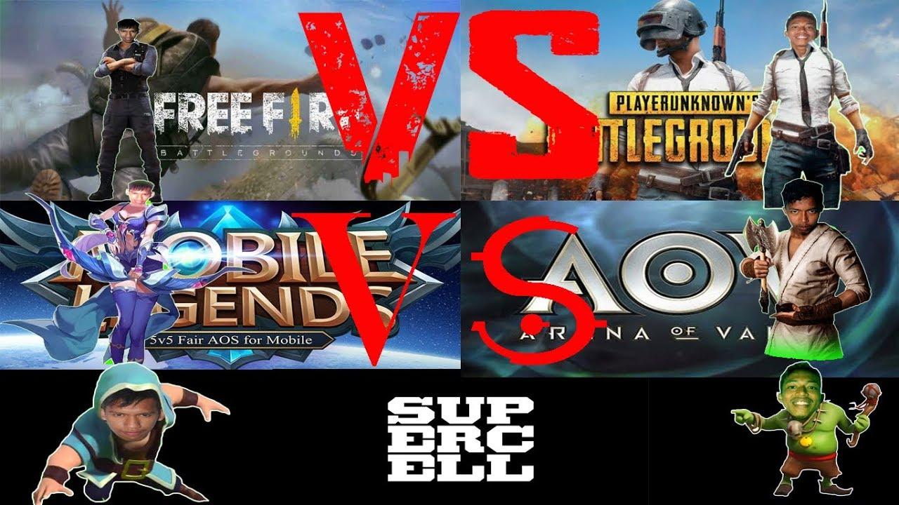 Lagu Rap Buat Gamers Mobile Indonesia Ff Vs Pubg Ml Vs Aov Coc Ir One Rev Ft Lcb Mc Youtube