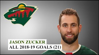 Jason Zucker (#16) All 21 Goals of the 2018-19 NHL Season