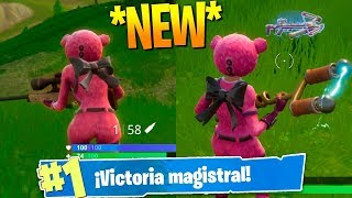 WINNING WITH the *NEW* SKIN PELUCHE BEAR! Fortnite: Battle Royale