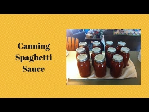 Canning Tomato Sauce for Spaghetti or Pizza