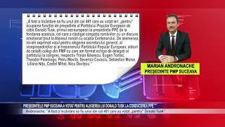 Președintele PMP Suceava a votat pentru alegerea lui Donald Tusk la conducerea PPE