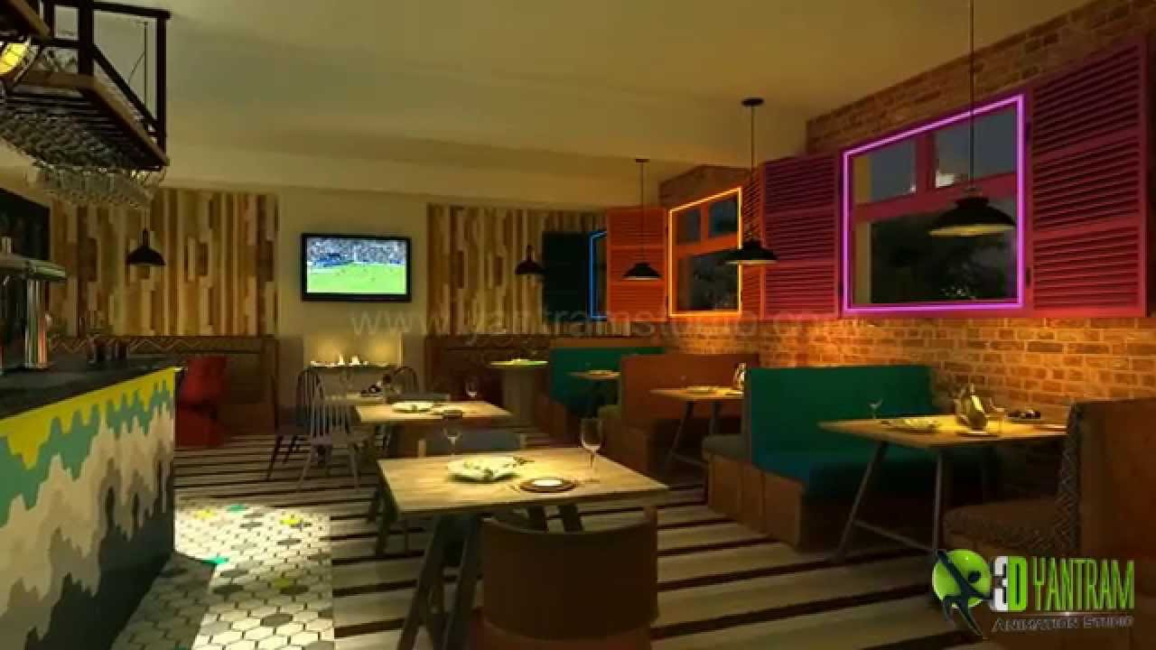 Visualize your bar interior design with 3d interior design 3d interior design online