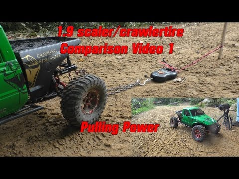 1.9 Scaler / crawler tire comparison Video-1 Pulling Power