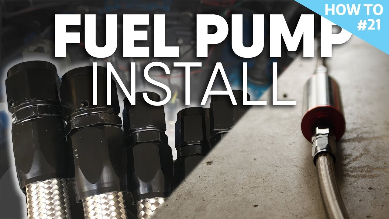 f00e09af7fb FiTech inline fuel pump install H2 21 - YouTube