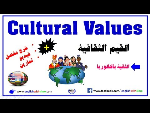 Cultural Vales Vocabulary by English With Simo معجم القيم ال