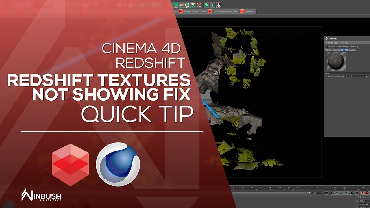 CINEMA 4D & REDSHIFT - Fixing Redshift black textures in the