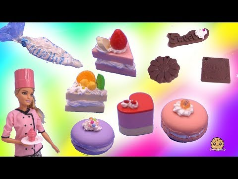 Whipple Frosting Desserts with Chef Barbie - DIY Craft Video