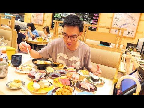 Japan Day 1 NAGOYA Sushi Train - REAL JAPANESE food | Eating Magoru & Toro