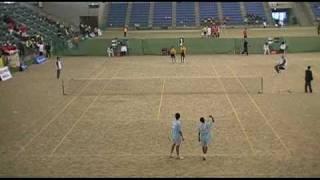 '09 第1回 国際ジュニアソフトテニス大会 U-15 男子ダブルス 準々決勝2
