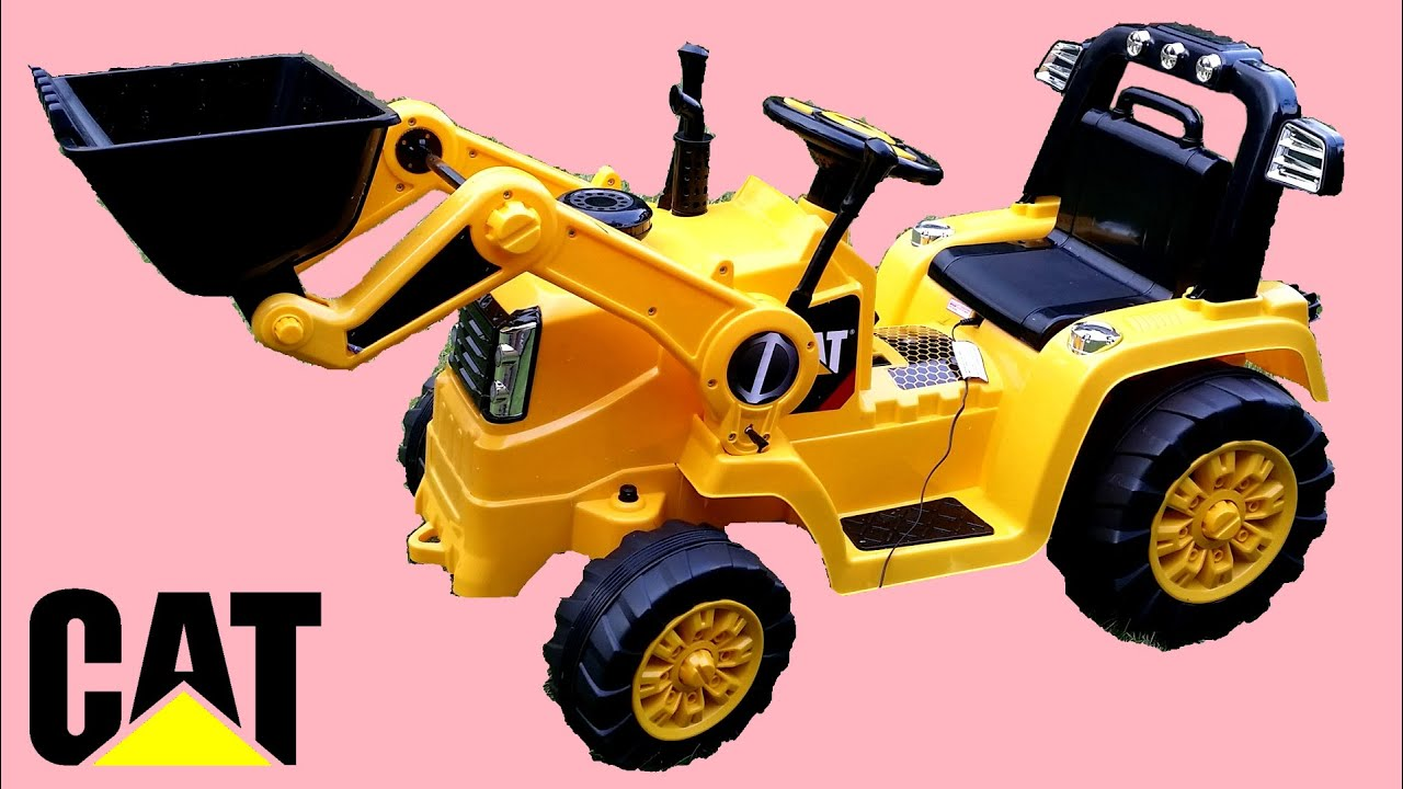 Power Wheels Ride On Tractor : Digger kids ride on tractor walkaround cat construction