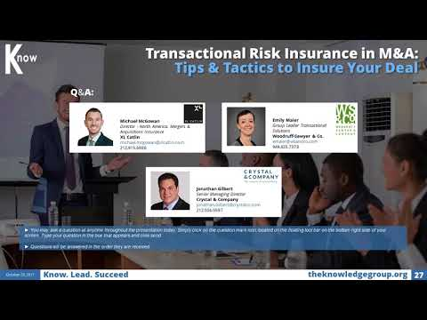 Transactional Risk Insurance in M&A