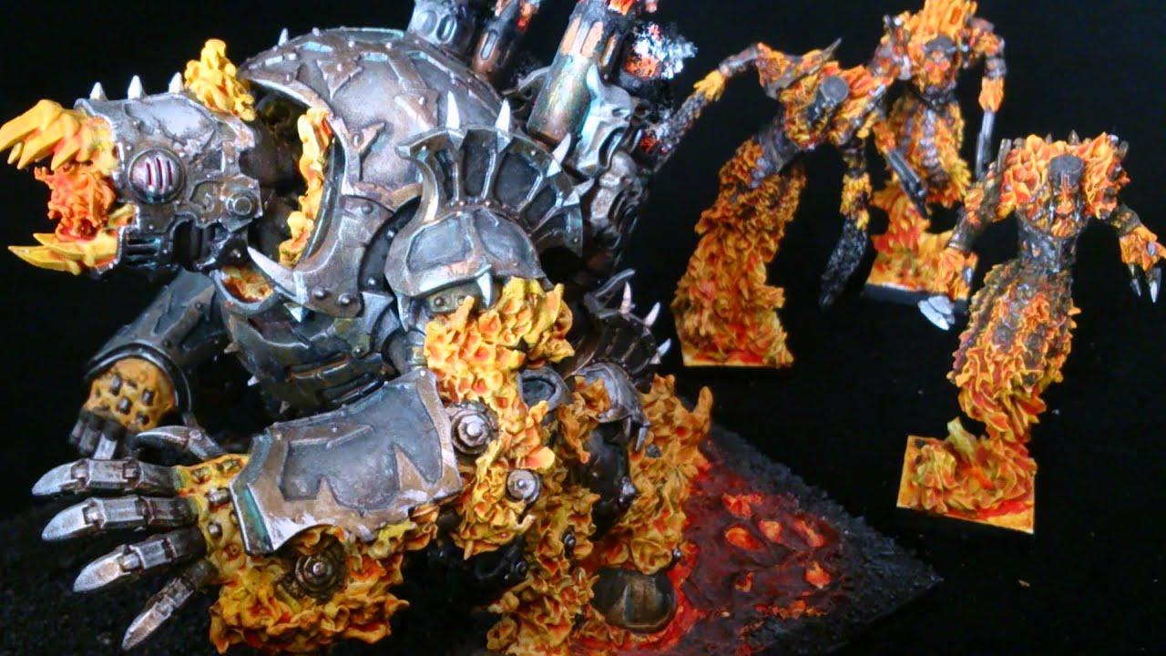 Chaos Dwarf K'daai fireborn/Destroyer rooster & fluff ...