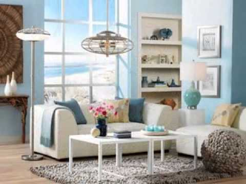 Diy beach themed living room decorating ideas youtube for Beach decor ideas living room