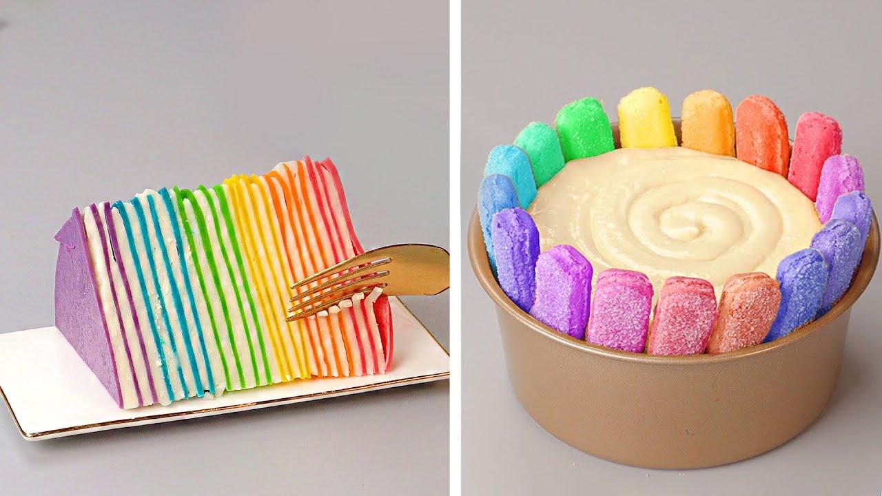 Easy And Creative Rainbow Cake Decorating Ideas | 18+ Satisfying Rainbow Cake Decorating Compilation