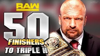 WWE 2K16 - 50 Finishers To Triple H!