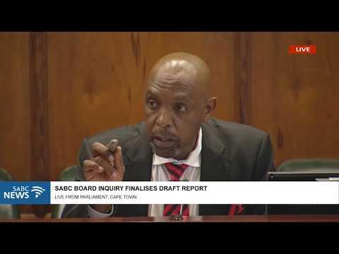 Adhoc committee finalises SABC Inquiry draft report, 27 January 2017 Part 2