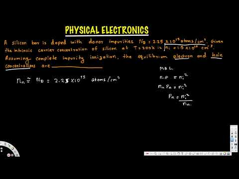 Equillibrium electron and hole concentrations, Mass Action Law - Physical Electronics