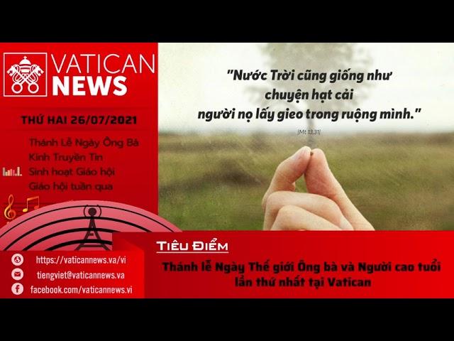 Radio thứ Hai 26/07/2021 - Vatican News Tiếng Việt