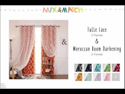 Best Home Fashion - Mix and Match Curtains (Tulle Lace & Moroccan Room Darkening)
