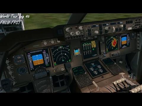 PMDG747-400v3 World Tour Leg46 FNLU-FPST