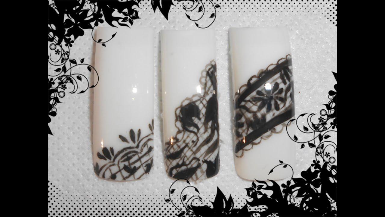 official photos 44174 17a23 -MICROPITTURA- 3 semplici nail art effetto pizzo