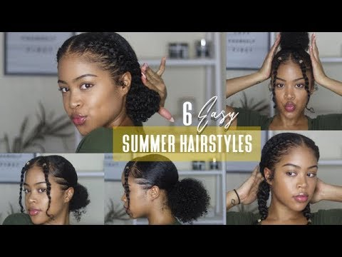 6 Easy No Braid Natural Hairstyles Perfect For Summer 2019 Youtube