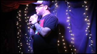Frankie Danger deals with a heckler at the Blind Tiger Comedy Club 02-28-14