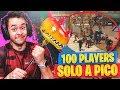 ¡100 JUGADORES A PICO CONTRA Mí! - Fortnite: Battle Royale - TheGrefg