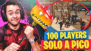 ¡100 JUGADORES A PICO CONTRA Mí! - Fortnite: Battle Royale - TheGrefg