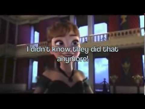 For the First Time in Forever [from Frozen] (instrumental karaoke) (with Anna and Elsa lyrics)
