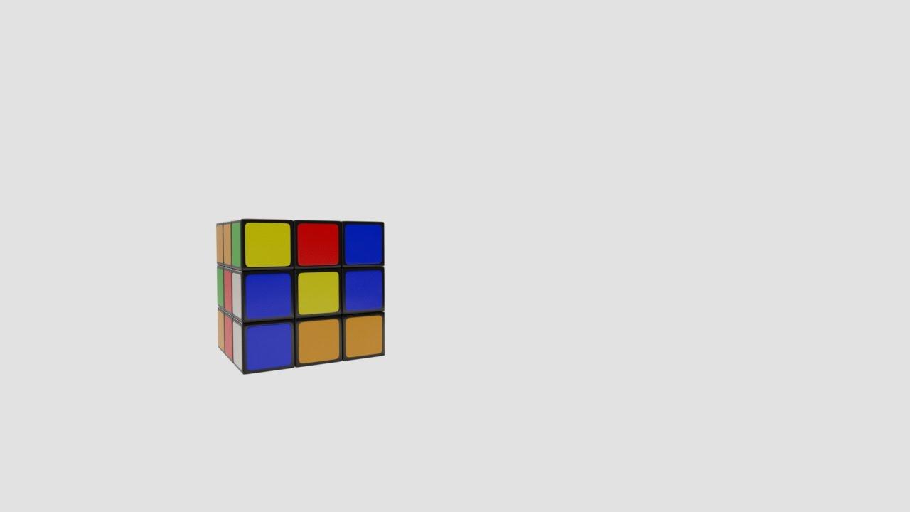 rubik cube logo animation