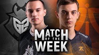 Video Match of the Week: G2 Esports vs Fnatic download MP3, 3GP, MP4, WEBM, AVI, FLV Agustus 2018