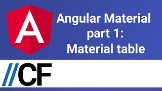 Angular Material part 1: Material table