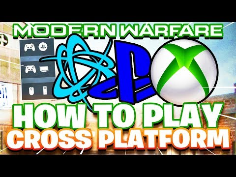 HOW TO PLAY CALL OF DUTY CROSS PLATFORM!/ EASY WAY TO PARTY UP WITH FRIENDS! (COD MODERN WARFARE)