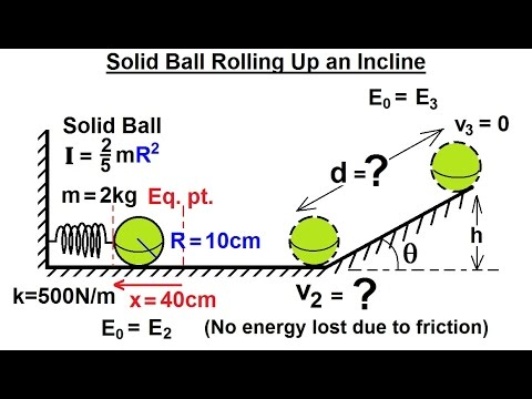 Disk rolling down inclined plane - Lagrangian | Doovi