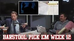 Barstool Pick Em Week 12