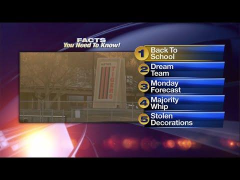 December 18th Morning Rush: Aztec High School students return to class Monday