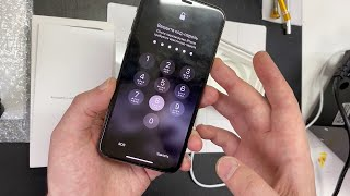 Айфон 10 зависает на вводе пароля!