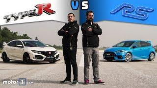 Honda Civic Type R Vs. Ford Focus Rs | Drag & Rolling Yarışı !